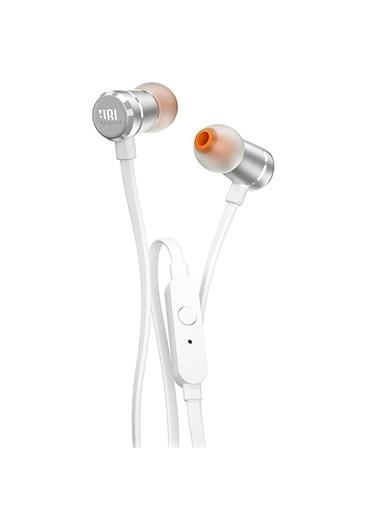 JBL T210 Beyaz-Gümüş Kablolu Kulak İçi Kulaklık Renkli